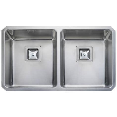 rangemaster kitchen sinks rangemaster atlantic quad stainless steel 2 bowl kitchen sink