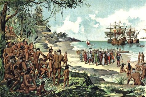 the new spaniards spanish arrival in the new world spanish conquest war art world spanish and the