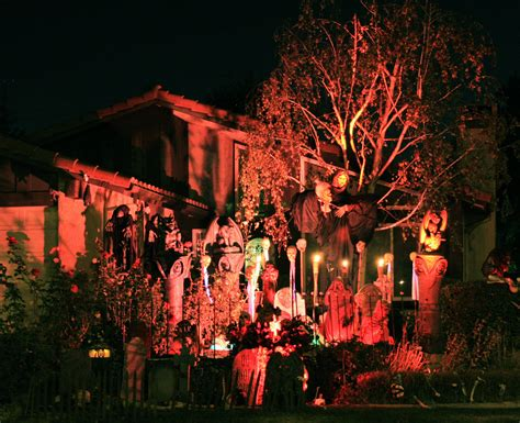 decorated homes for halloween scary house the yards filled with goblins and ghost