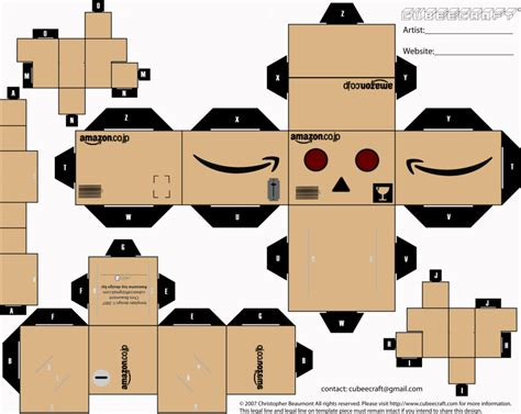 Papercraft Danbo - danbo cubeecraft by limeth on deviantart