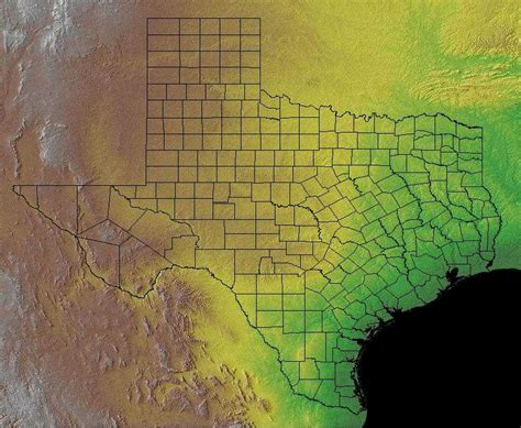 texas landform map texas geography texas regions and landforms