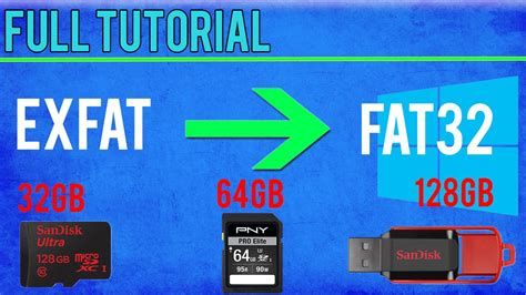 format fat32 64gb usb format 64gb sd card memory stick to fat32 win 10 8 1 8 7