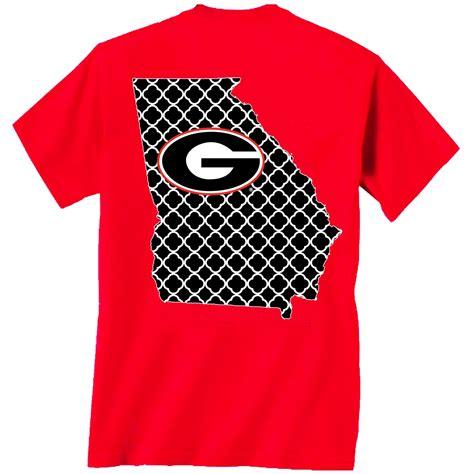 georgia bulldogs fan apparel georgia red quatrefoil t shirt georgia t shirt uga apparel