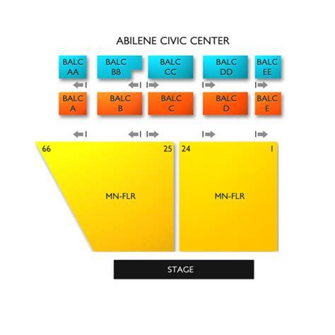 abilene civic center seating chart seats