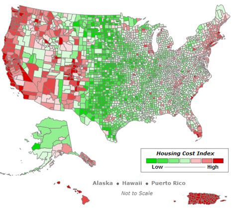 map of cost of living in the us bush the gavel