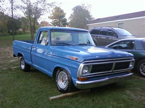 72 ford f100 1972 ford f100 4x2 72 f100 grabber blue