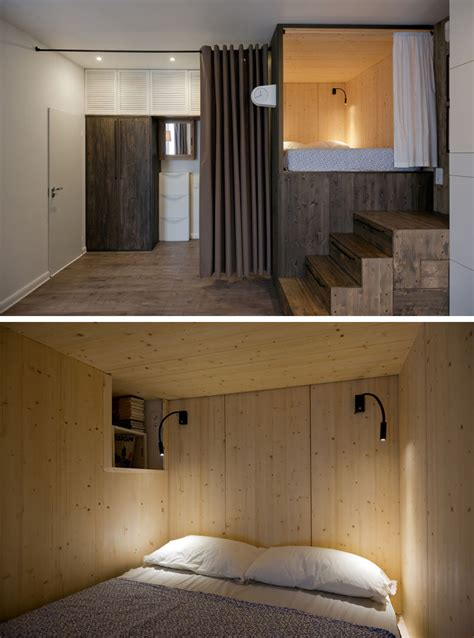 raised bed in bedroom small apartment design idea raised bedroom allows for