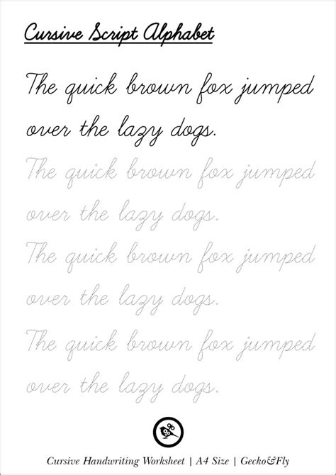 cursive letters chart 5 printable cursive handwriting worksheets for beautiful 1174