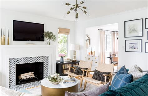 Living Room With Pictures - comfortable in a seattle cape cod front