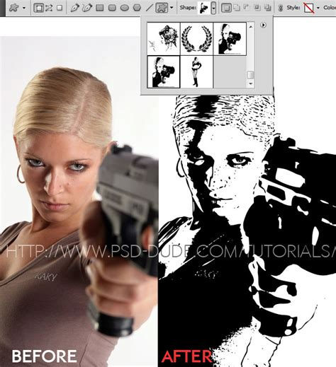 convert image to pattern in photoshop convert image to vector shape silhouette in photoshop
