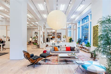 home design stores washington dc herman miller unveils its nyc flagship full of midcentury