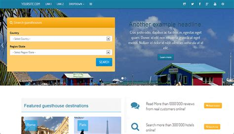 free bootstrap templates for resorts 17 hotel bootstrap themes free premium templates