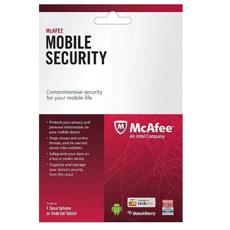 mcafee mobile mcafee mobile security 1 year 1 device global