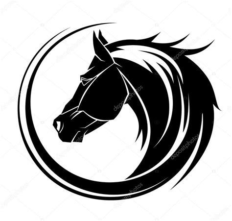 imagenes vectores de caballos tatuaje tribal de c 237 rculo de caballo vector de stock