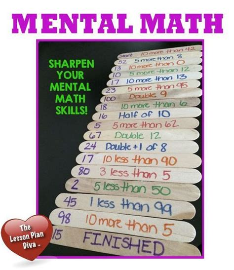 Create With This Simple Mental - such an easy and no cost math center idea easy to