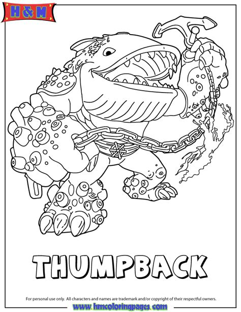 skylanders giants water series2 thumpback coloring page