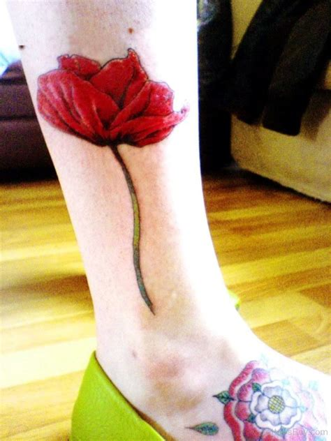 poppy tattoo designs foot poppy designs pictures page 12