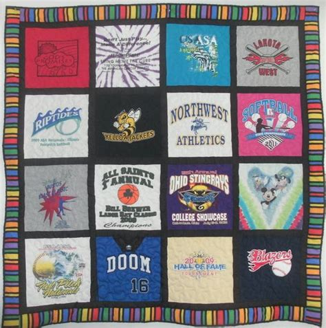 Softball Quilt by 16 Shirt Quilt For Softball Player Great Colors Our