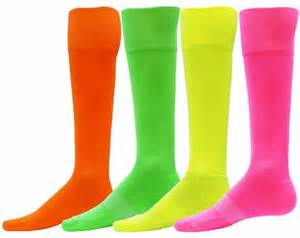 color socks bright neon attacker knee high performance athletic socks