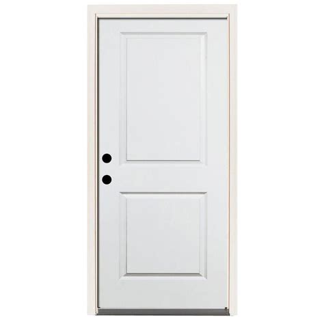 2 4 Exterior Door Steves Sons 36 In X 80 In Premium 2 Panel Square Primed White Steel Prehung Front Door W 36