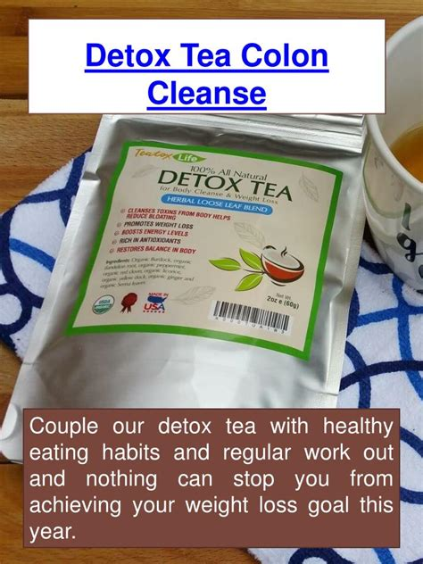 How Does Detox Bed Work by Ppt Herbal Tea For Colon Cleansing Powerpoint