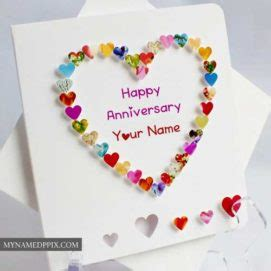 Write Name On Wedding Anniversary Cards