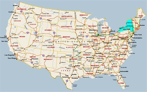 map of the us new york new york map with cities travelsfinders