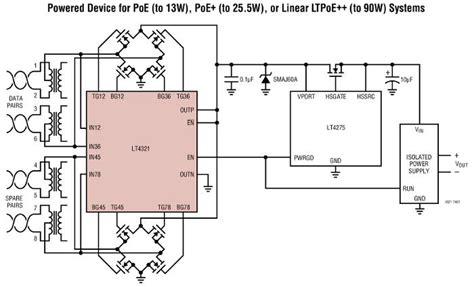 diode protection bridge diode bridge controller for power ethernet from ltc