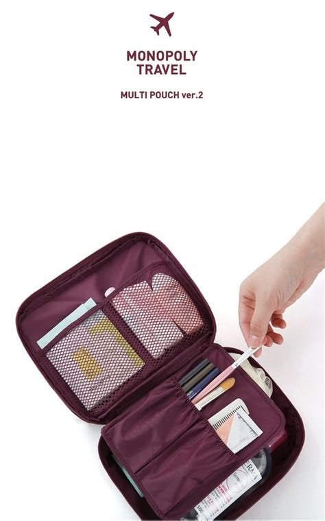 Tn012 Tas Kosmetik Travel Bag Korean Multi Pouch Cosmetic Toiletries 1 tas travel korea import bg622 burgundy tamochi