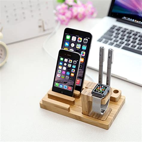 amazon com jack cube universal multi device cord organizer stand from usa pparty bamboo universal multi device cord