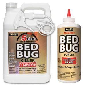 harris  minute bed bug killer gallon  resistant bed bug powder  oz pro pack goldpropack