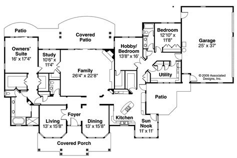 Floor Plans Florida by Florida House Plans Cloverdale 30 682 Associated Designs