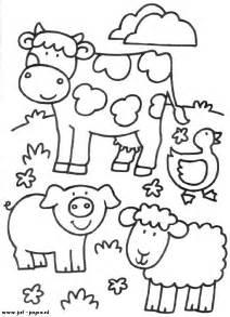 Animales de granja dibujos para colorear farming