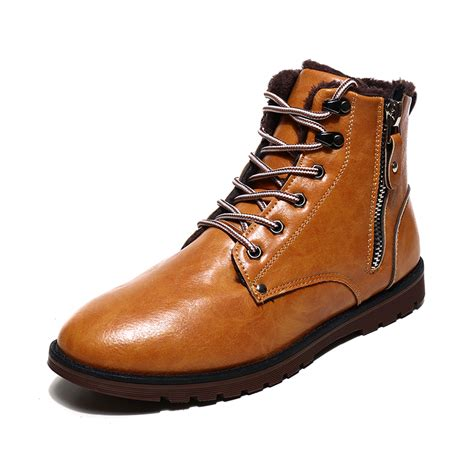 boots for 2015 new 2015 winter mens boots casual black pu leather ankle