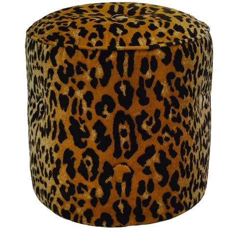 Animal Ottomans Elsie Tabouret Animal Print Ottoman Or Stool By Tony Duquette For Baker No 1697 At 1stdibs