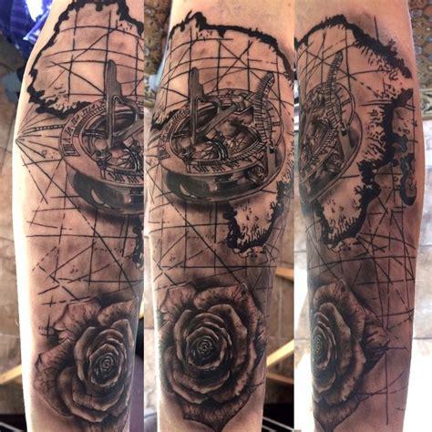 map compass rose tattoo my tattoo works pinterest