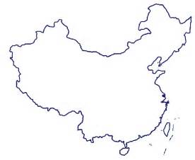 Great Wall Of China Map Outline by Clipart China Mapclipartfest