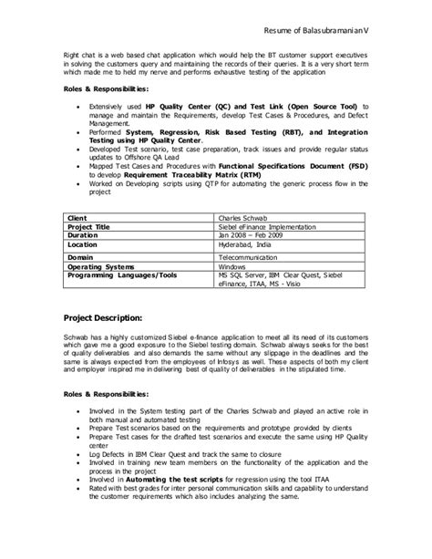 Siebel Tester Cover Letter by Siebel Resume 28 Images Microsoft Exchange