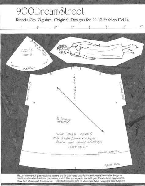 barbie sewing patterns on pinterest barbie patterns photo bias nightgown or dress barbie sewing patterns