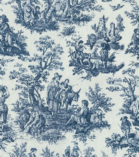 Online Shopping Sites Home Decor home decor print fabric waverly rustic toile navy jo ann