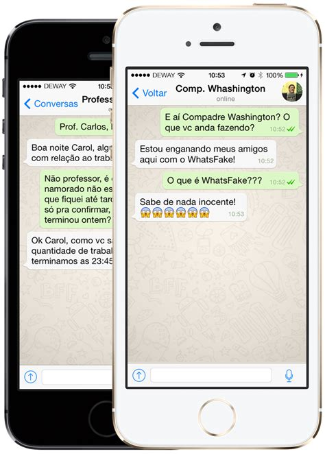 tutorial de whatsapp para iphone whatsfake crie conversas falsas iguais as do whatsapp