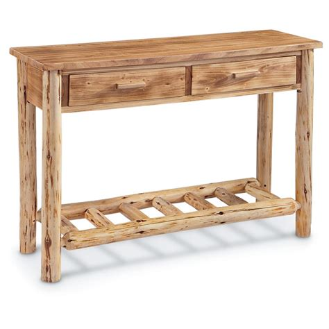 log sofa table rustic console tables entry and sofa thesofa