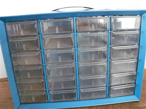 industrial tool box 24 mini storage drawers jewelry by toby11