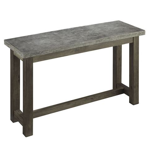 jcpenney sofa table austin concrete console table jcpenney