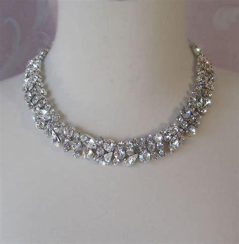 rhinestone necklace rhinestone necklace bridal choker wedding nacklace