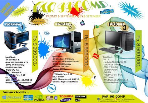 contoh desain brosur laptop contoh brosur komputer