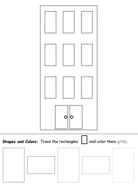 Rectangle Worksheet by Rectangles Building