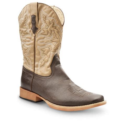 mens square toe western boots s roper square toe western boots 608724 cowboy