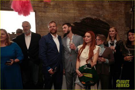 lindsay lohan friends lindsay lohan attends her friends wedding in iceland