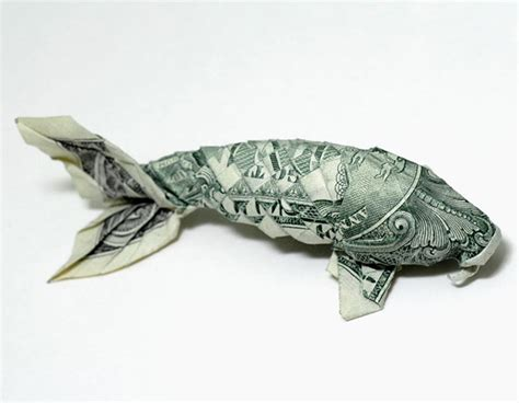 Origami With Bills - dollar bill origami